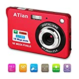ATian Compactas Cámaras Digitales 2.7 Pulgadas LCD 8X Zoom Digital Anti-vibración Recargable HD Cámara Digital para...