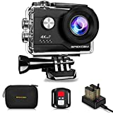 Apexcam Cámara Deportiva 4K 20MP WiFi Ultra HD Cámara subacuática Impermeable 40M Action Camera 2.0'LCD 170° Gran Angular 2.4G...